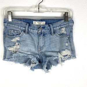 Abercromie & Fitch distressed denim jeans shorts